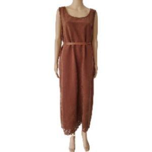 TY Original Wear Brown Suede Long Dress 1X in Size